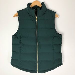 Talbots Down Puffer Quilted Vest Zip Up Pockets
